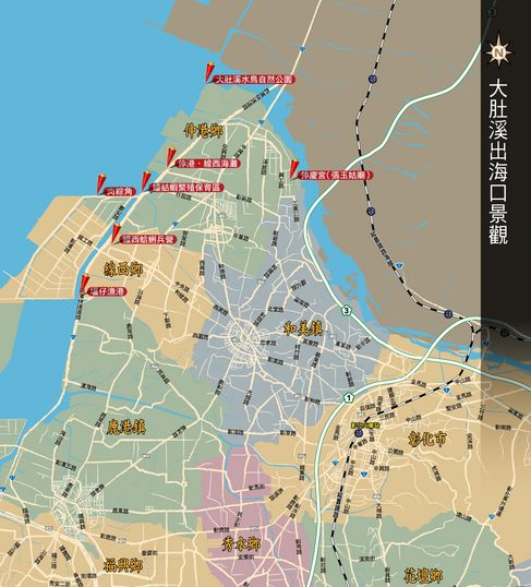 台湾大肚乡地图