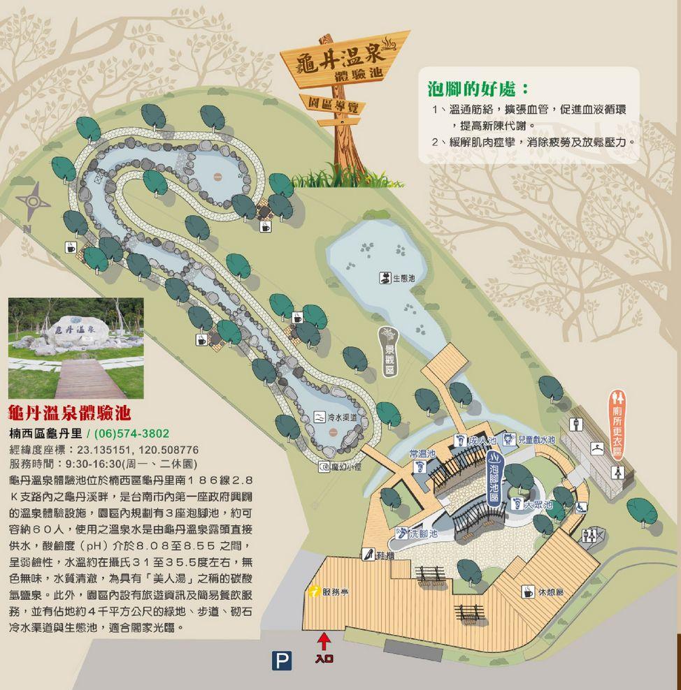 龜丹溫泉體驗池地圖